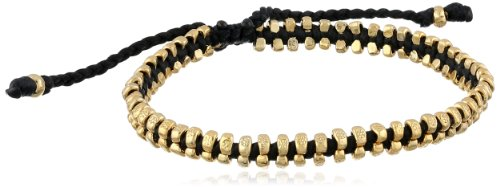 M.Cohen Handmade Designs Black Wax Cord  Gold-Plated