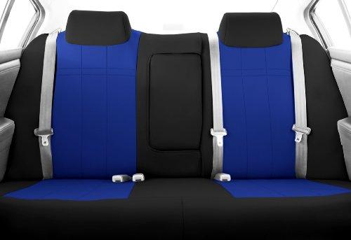 Amooca VTI Universal Front Rear Car Seat Cushion Cover Brown/&Beige 10pcs Full Set Needlework PU Leather
