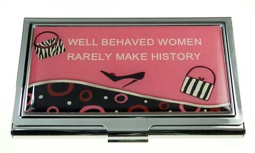 Business Card Case - Girl Power - Well Behaved Women