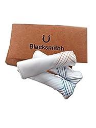 Blacksmithh 100% Luxurious Cotton Handkerchief - Pack of 3