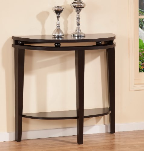 ioHOMES Amelia Sofa/Console Table, Dark Espresso (Console Wall Table compare prices)