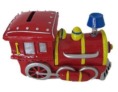 Bobble Smoke Stack Train Engine Locomotive Piggy Bank (Vintage Train Engine compare prices)