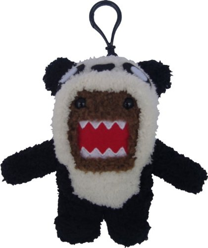 Licensed 2 Play Domo Panda Plush Novelty Doll Clip On - 1