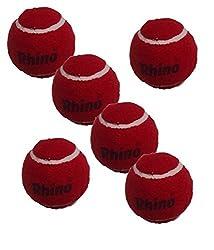 Rhino Match Quality Cricket Tennis Ball -Heavy (Box of 6 Balls)