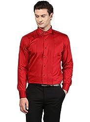 GIVO Gold Class Red Tuxedo Shirt