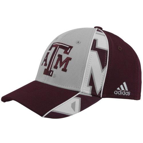 136669cde86 Texas A M Aggies Adidas Split Logo Structured Flex Hat (L XL)