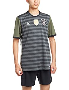 adidas Herren UEFA EURO 2016 DFB Auswärtstrikot Replica, dunkel grau/weiß/grün, XS, AA0110