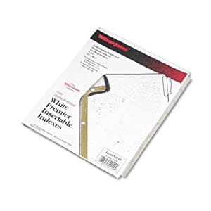 Wilson Jones Insertable Dividers - Gold Line, 8-Tab Set, Clear Tabs on White Paper (W54149A)