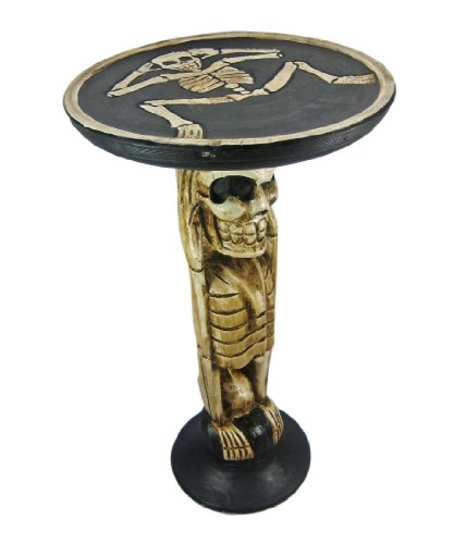 Cheap Hand Carved Skeleton Wooden End Table Plant Stand (B005CDMKJE)