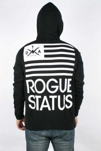 Rogue Status/DTA - Mens Black Flag Hoodie in Black/White, Size: XXX-Large, Color: Black/White