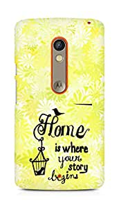 AMEZ home is where your story begins Back Cover For Motorola Moto X Play