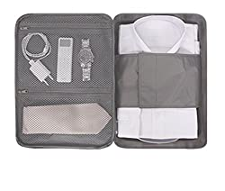My Gift Booth Nylon Shirt Travel Organiser, Grey