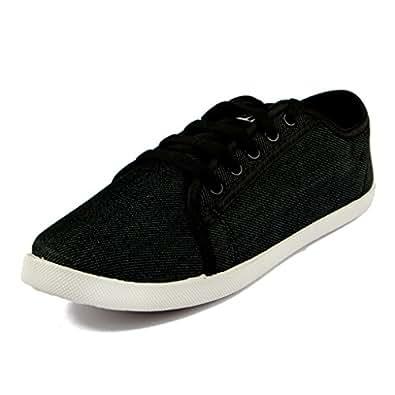 Asian Shoes Women's Canvas Casual Shoes (LR-13s5cBLK__Black_5UK/Indian)