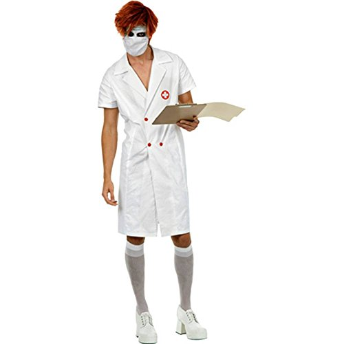 [Charades Costumes Twisted Nurse Too Adult Costume Black X-Large] (Joker Nurses Costume)