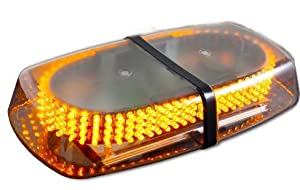 Metro Amber Emergency Hazard Warning LED Mini Bar Strobe Light with Magnetic Base
