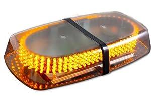 Metro Amber Emergency Hazard Warning LED Mini Bar Strobe Light with Magnetic Base