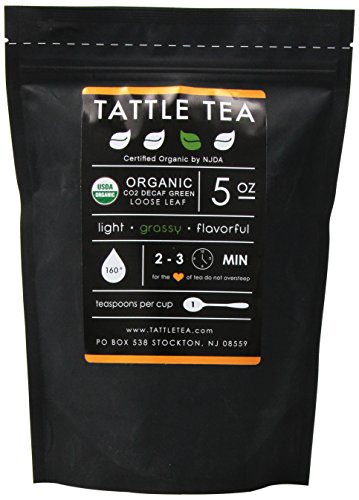 Tattle Tea Organic Co2 Decaf Green Tea, 5 Ounce