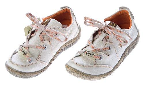 Damen Leder Halb Schuhe Comfort Sneakers Weiß Used Look Turnschuhe TMA Eyes Gr. 40