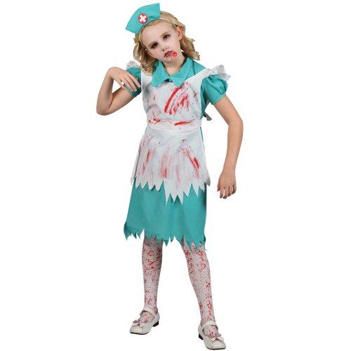 [Halloween Zombie Nurse Kids Fancy Dress Costume] (Zombie Nurse Costumes)
