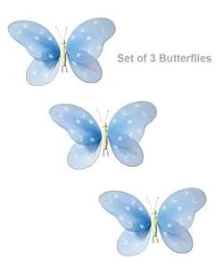 partido de la mariposa del sitio del cuarto del bebé y las niñas