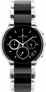 Jacques Lemans Men's 1-1580A Dublin Classic Analog Chronograph with HighTech Ceramic and Sapphire Glass Watch