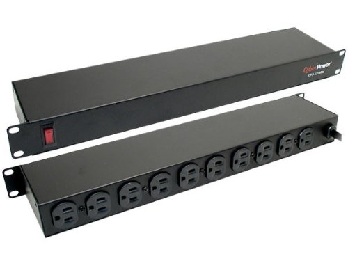 Cyberpower CPS-1215RM Rackmount PDU Power Strip - 10-Outlet 15A 1800VA