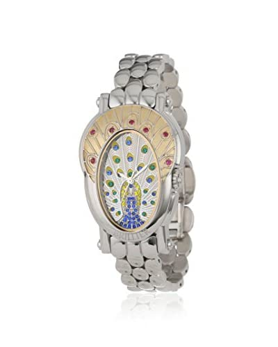Brillier Women's 18-08 Royal Plume Ruby Two-Tone Stainless Steel Watch