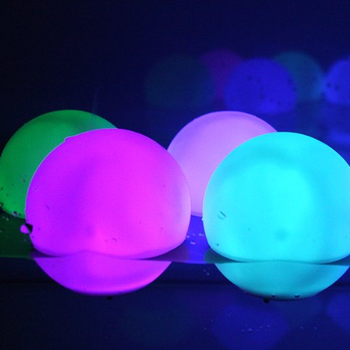 agptek 12 x mood light garden deco floating balls great. Black Bedroom Furniture Sets. Home Design Ideas