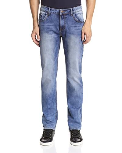 TR Premium Men's Slim Straight Leg Washed Jean
