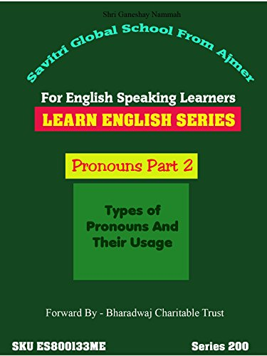 English Lesson - Pronouns Part 2 of 4 vClass by Dr Anup. Watch Video And Learn