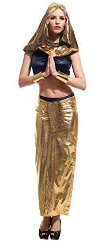 Treasure-box Sexy Adult Gold Egypt Queen Costume Halloween