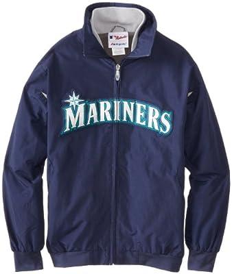 MLB Seattle Mariners Triple Peak Premier Jacket, Navy Silver