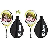 2 x Wilson Pro 25 Junior Tennis Racket + 3 Tennis Balls RRP �80