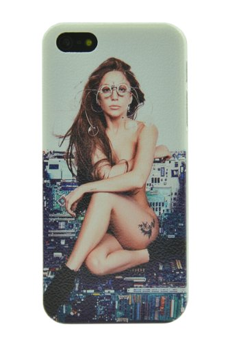 Pop Star Lady Gaga Cool Design Clear Plastic Hard Case, Iphone 5 5S Case Protective Skin Cover
