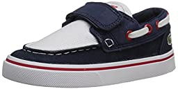 Lacoste Keel 116 2 Boat Shoe (Toddler/Little Kid/Big Kid), Navy/White, 7 M US Toddler