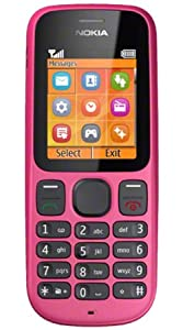 Nokia 100 O2 Mobile Phone on Pay as you go / Pre-Pay / PAYG (£10 airtime credit) - Pink
