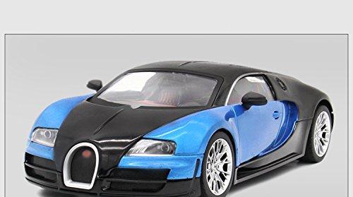 Tourwin Toy car 1:18 Bugatti Veyron simulation black blue static car model collection decoration alloy children's toysdoors can open