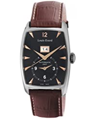 Louis Erard Men's 82210AA02.BDC50 1931 Automatic GMT Black Dial Brown Leather Watch