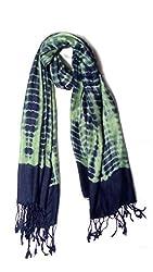 Anuze Fashions Tie Dye Green Leopard Design Stole