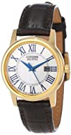Citizen Womens EW1562-01A Eco-Drive Brown Leather Strap Watch