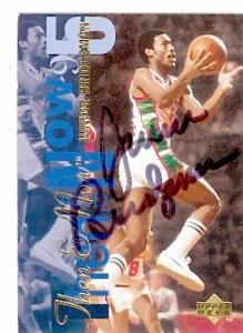 Junior Bridgeman Autographed Hand Signed Basketball Card (Milwaukee Bucks) 1995 Upper... by Hall of Fame Memorabilia