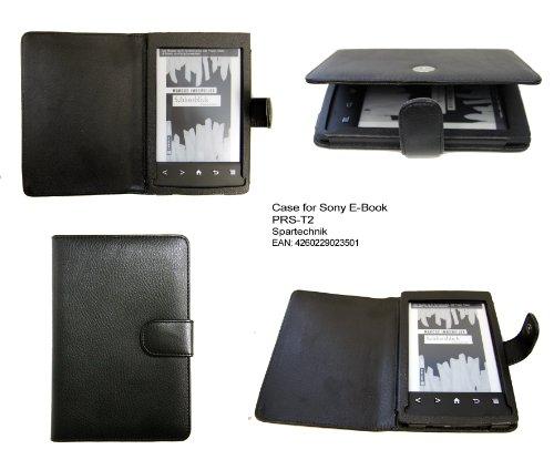 Etui Sony pour Sony PRS-T2 - parfait sacoche de transport - housse en cuir (synthétique) pour Lecteur eBook Sony E-Book PRS T2 - noir
