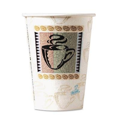 """Dixie - 4 Pack - Perfectouch Hot Cups Paper 8Oz Coffee Dreams Design 50/Pack """"Product Category: Breakroom And Janitorial/Food Service Supplies"""""""
