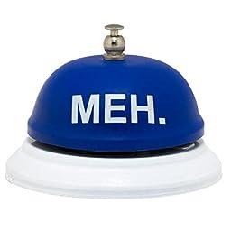Royal Blue Meh 3.5 x 3 inch Humorous Metal Mechanical Desk Bell Decoration