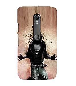 Fuson Premium Back Case Cover Rocking Man With Pink Background Degined For Motorola Moto G3::Motorola Moto G (3rd Gen)