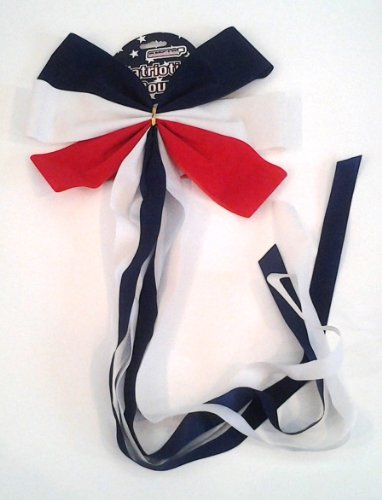 Patriotic Bow with Streamer Tail