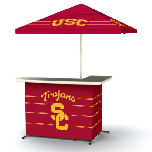 Ncaa Usc Trojans Wheeled Portable Bag Travel L-Shape Umbrella Basic Bar Maroon