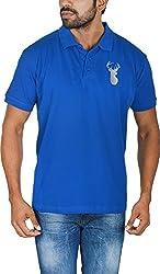 Le Beau Classics Men's Cotton Polo T-Shirts GR_006_ Royal Blue_M