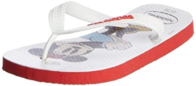 Havaianas Girls' Disney Stylish Flip Flops Red/White 8/9 UK Child