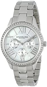 Stuhrling Original Women's 391LS.01 Regent Lady Majestic Quartz Swarovski Stainless Steel Watch